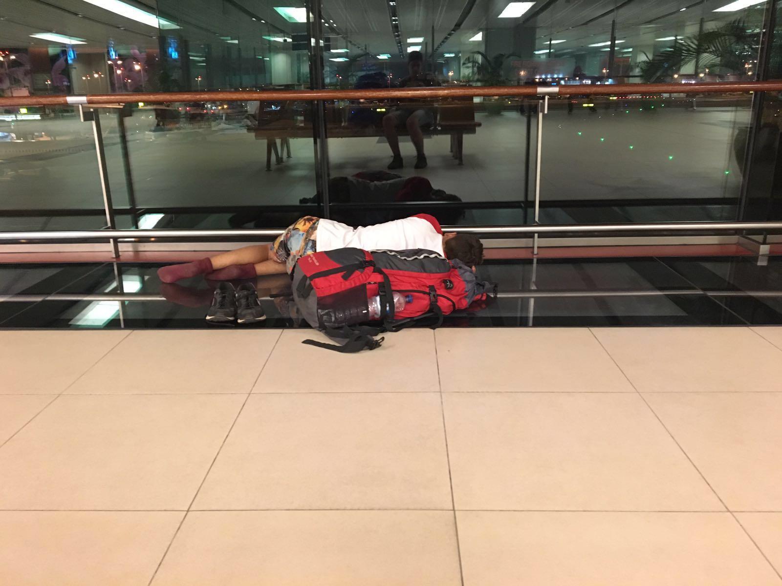 Übernachtung am Flughafen