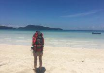 14 - Koh Rong Sanloem mit Backpacker Rucksack