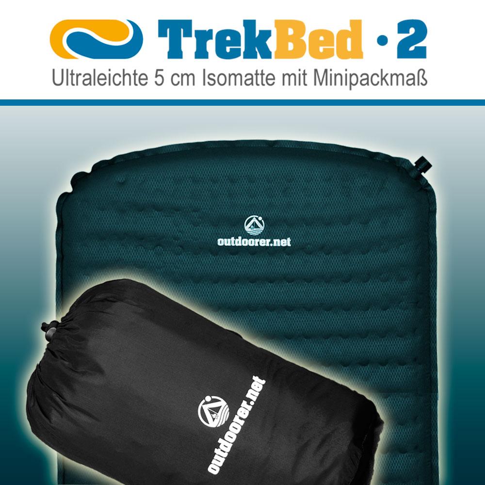 Ultralight Self Inflating Sleeping Mattress 5 Cm Trek Bed