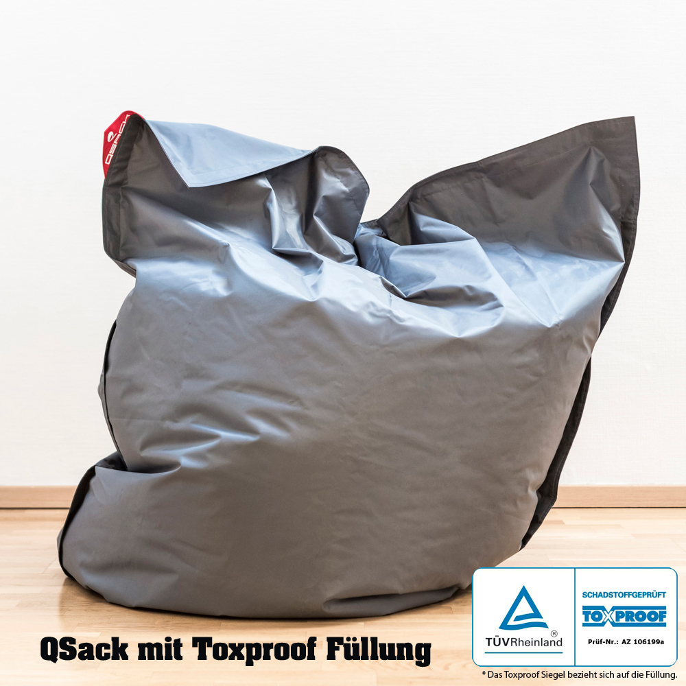 qsack outdoorer sitzsack mit toxproof f llung xxl f llung schadstoff gepr ft ebay. Black Bedroom Furniture Sets. Home Design Ideas
