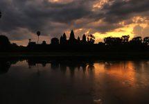 In Kambodscha reisen - Angkor Wat Sonnenaufgang
