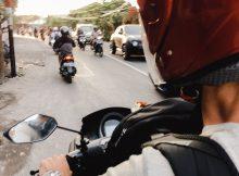 Moped Verkehr auf Bali