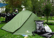Motorrad Reiseberichte - mit dem Trekkingzelt Trek It Easy