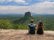 Farina und Steffen, Aussicht auf den Sigiriya Rock