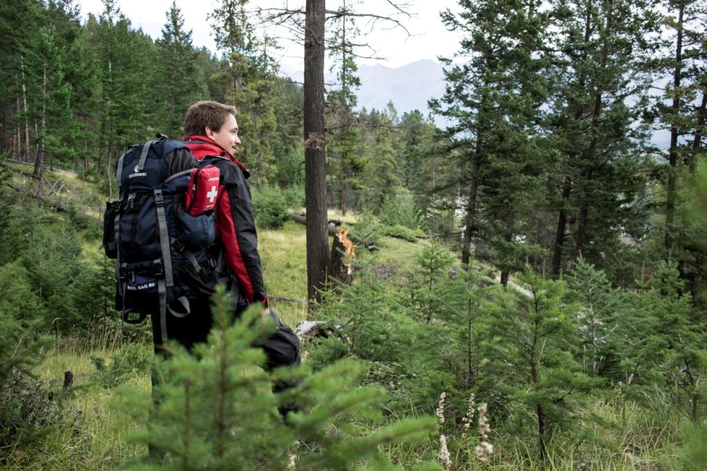 Trekking mit dem Tour Bag 50 im Jasper National Park