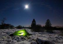 Ultraleichtzelt Trek Escape im Schnee