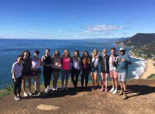 Unsere Reisegruppe für den Ausflug zum Figure 8 Pool (Sydney)
