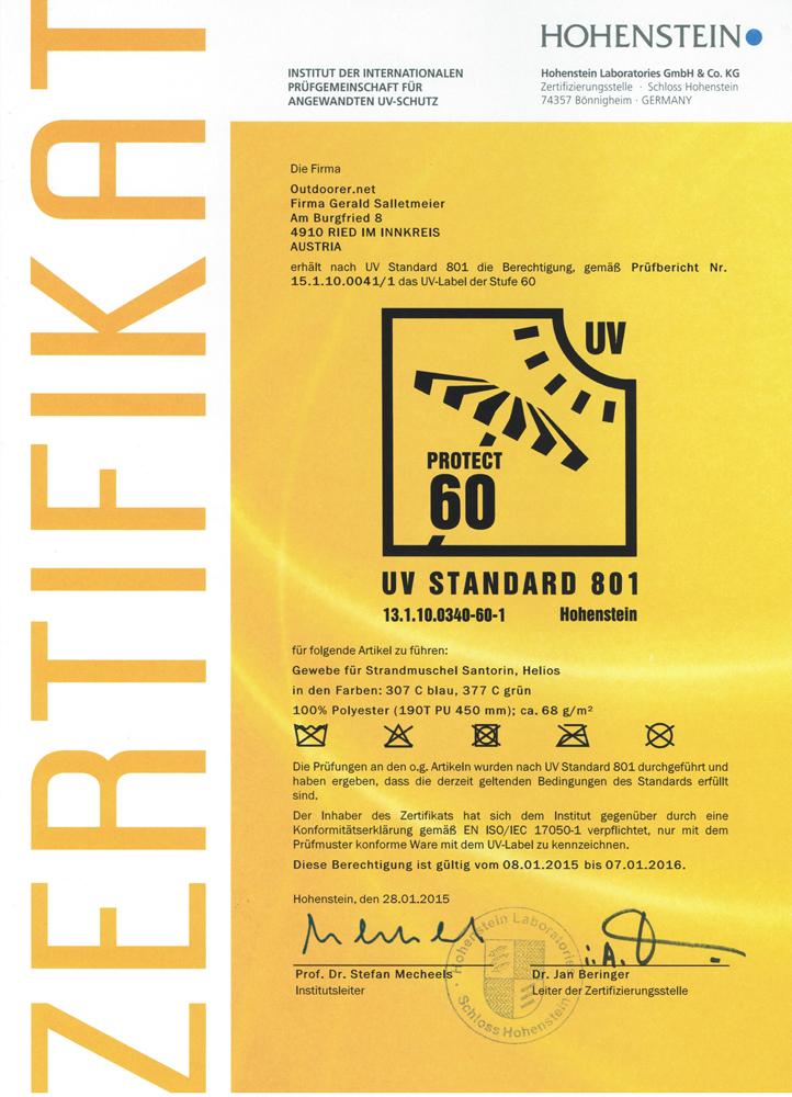 Zertifikat_UV60_Hohenstein