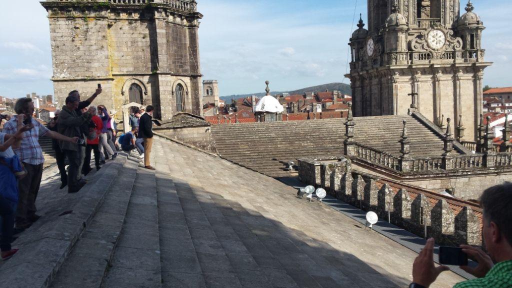 12-1, Santiago, Kathedrale, Führung übers Kathedalendach