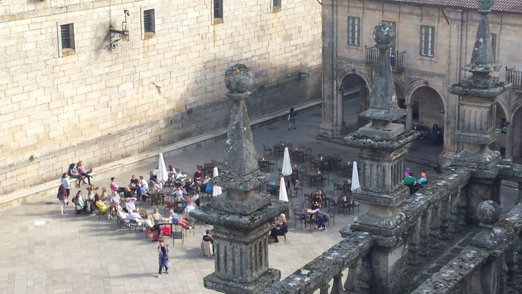 12-4, Santiago, Kathedrale, Praza da Quintana