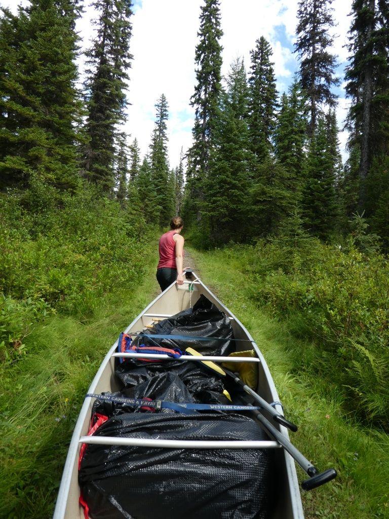 1. Portage beim Kanuwandern