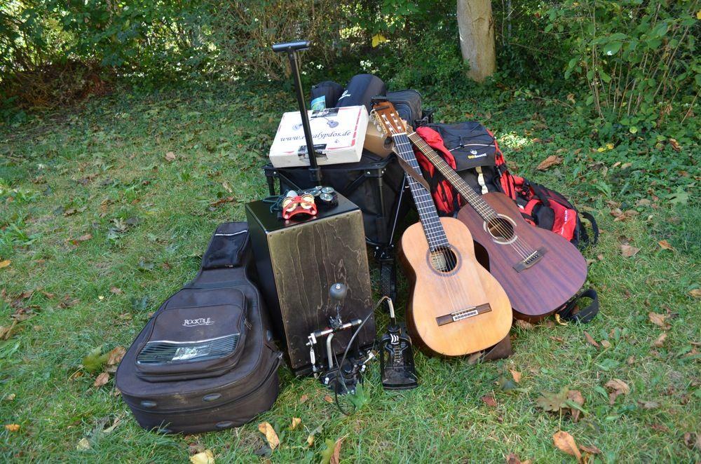 Backpacking Ausrüstung für Straßenmusiker