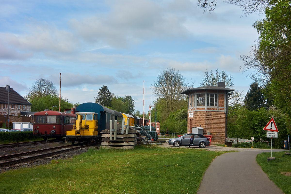 alte Bahnanlage und Radweg am Vennbahnradweg  in Aachen-Walheim