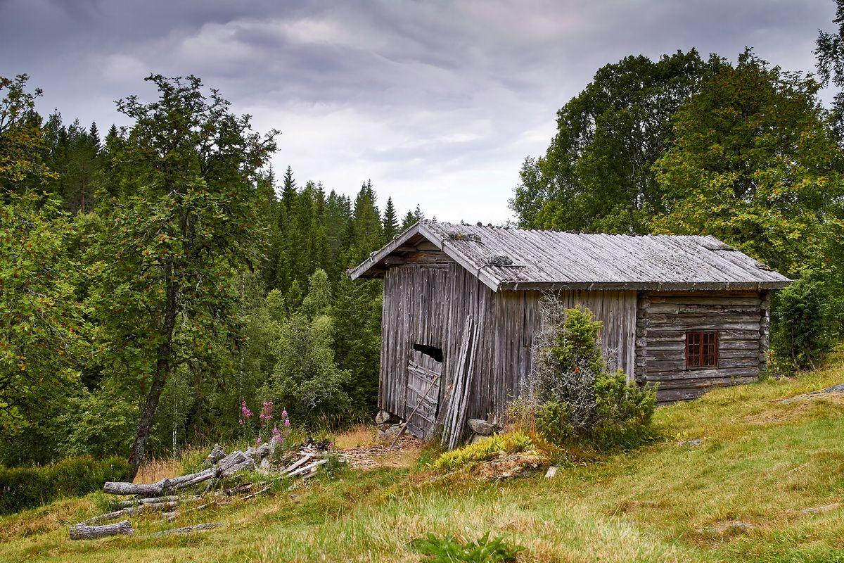 alter Schuppen an der Alm Rita Mäki bei Torsby