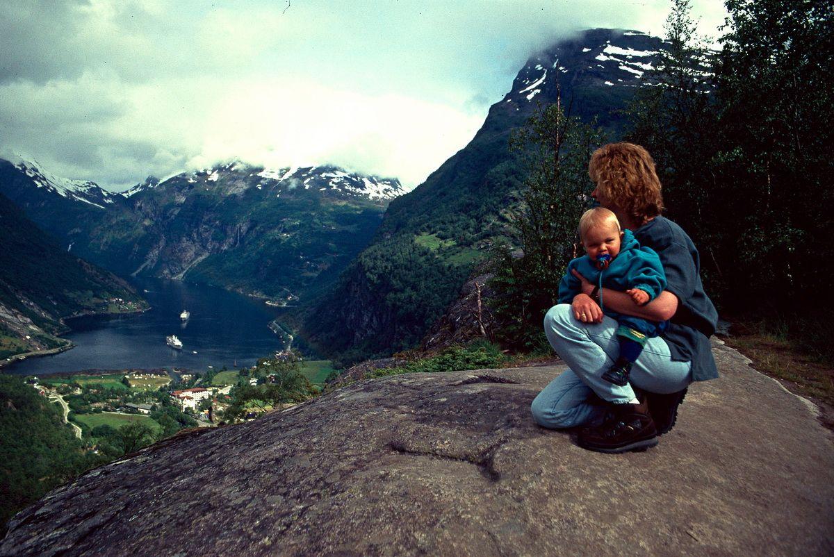 Ausblick auf den Geirangerfjord 1997