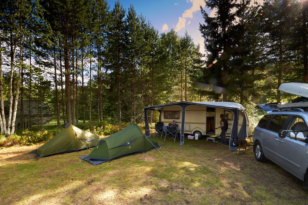 Camping Nya Skogsgarden mit Trek Escape 1+2