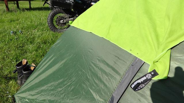 Campingzelt Festival Explorer beim Campen in Trakai