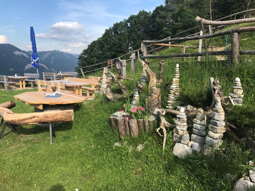 Details der Lärchenhütte