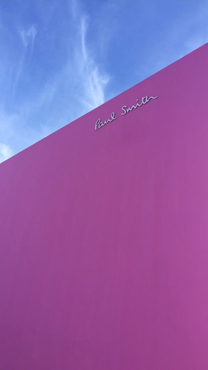 Die Pinke Paul Smith Wand im Melrose District in LA