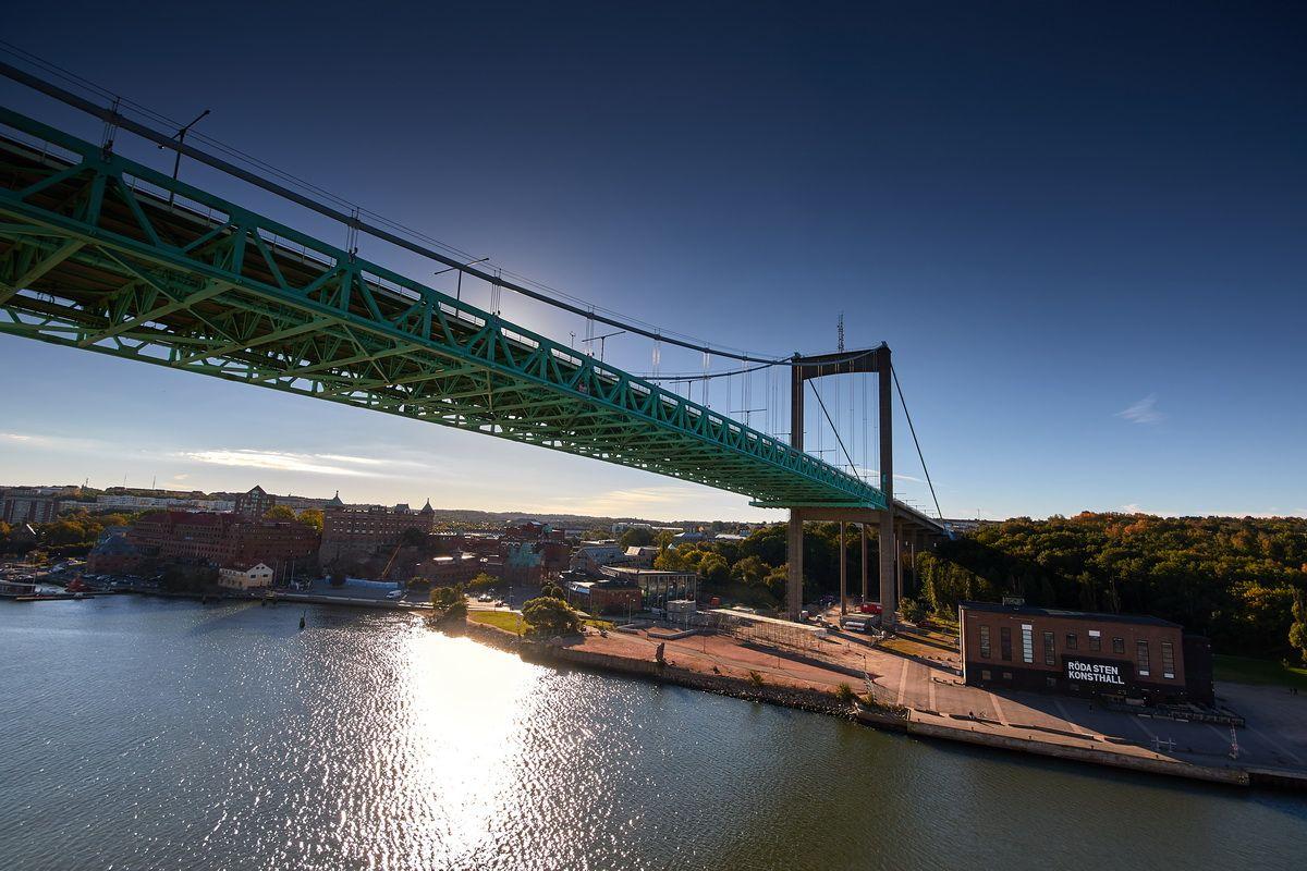 Hängebrücke in Göteborg Älvsborgsbron