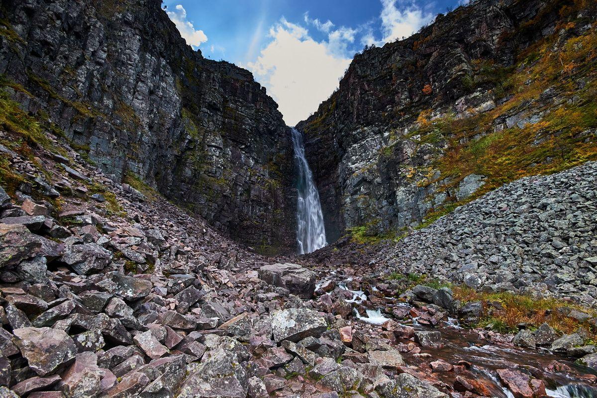 Höchster Wasserfall Schwedens