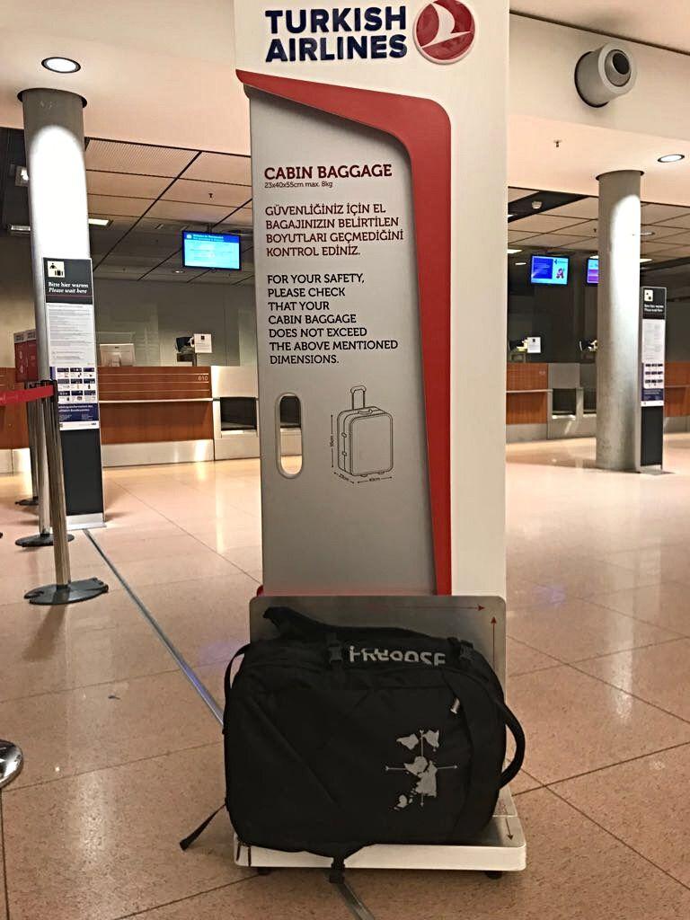 Handgepäck Größe für Turkish Airlines