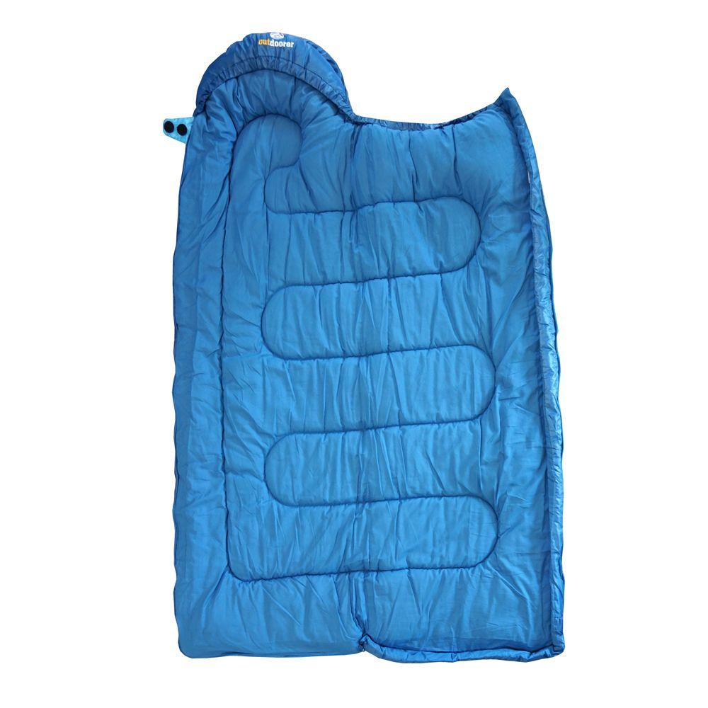 Kinderschlafsack öffnen blau