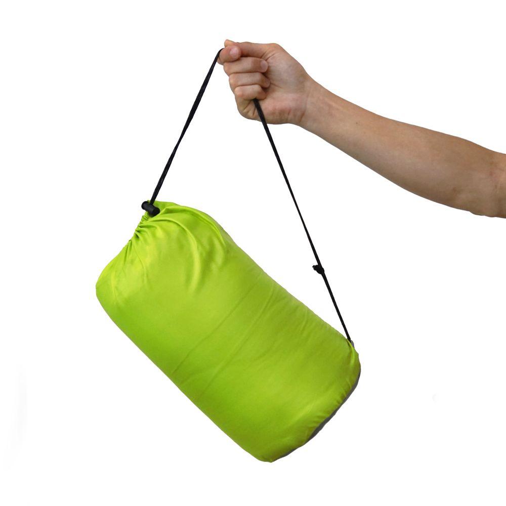 Kleines Packmaß Schlafsack Dream Express grün