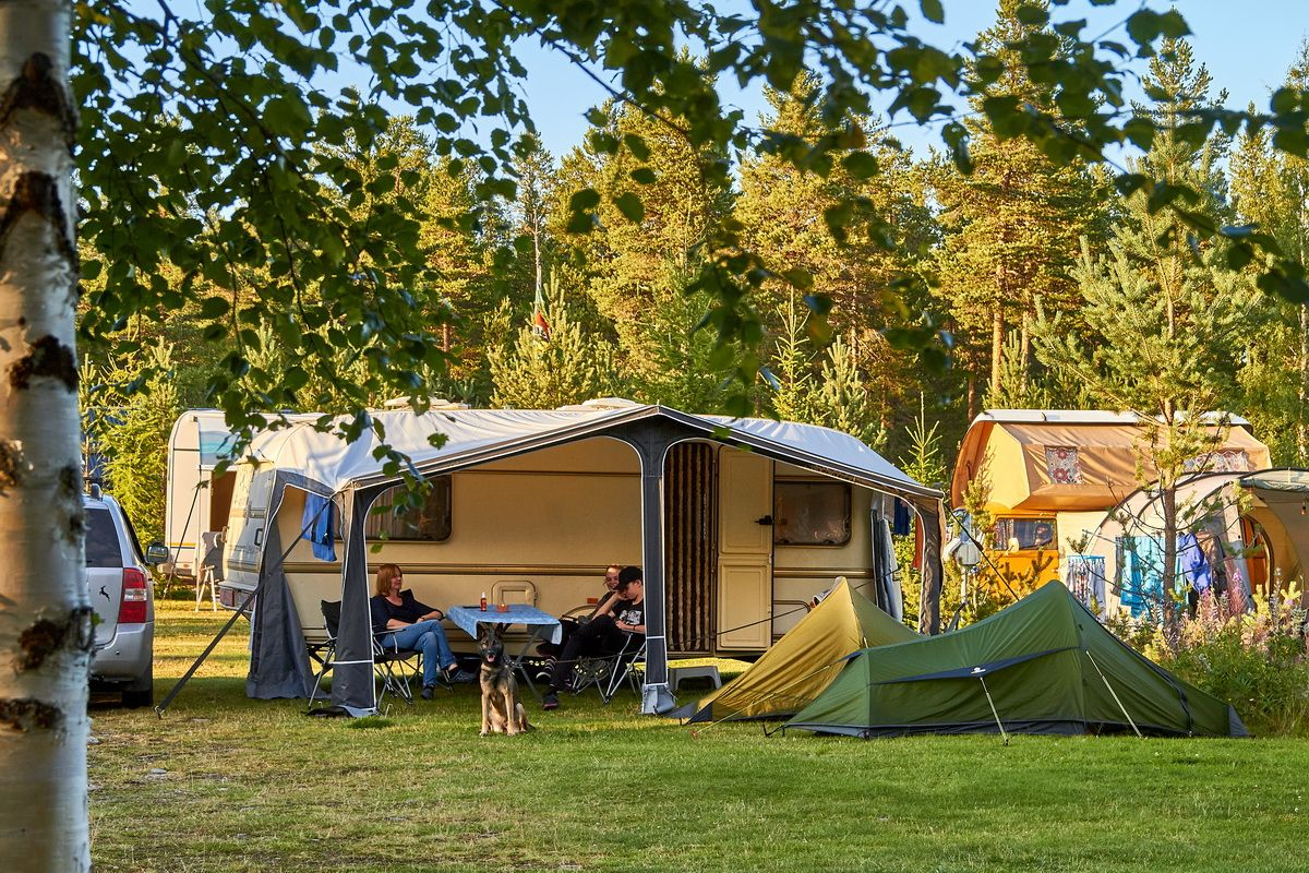 Lager auf Sörälvens Fiskecamping bei Idre
