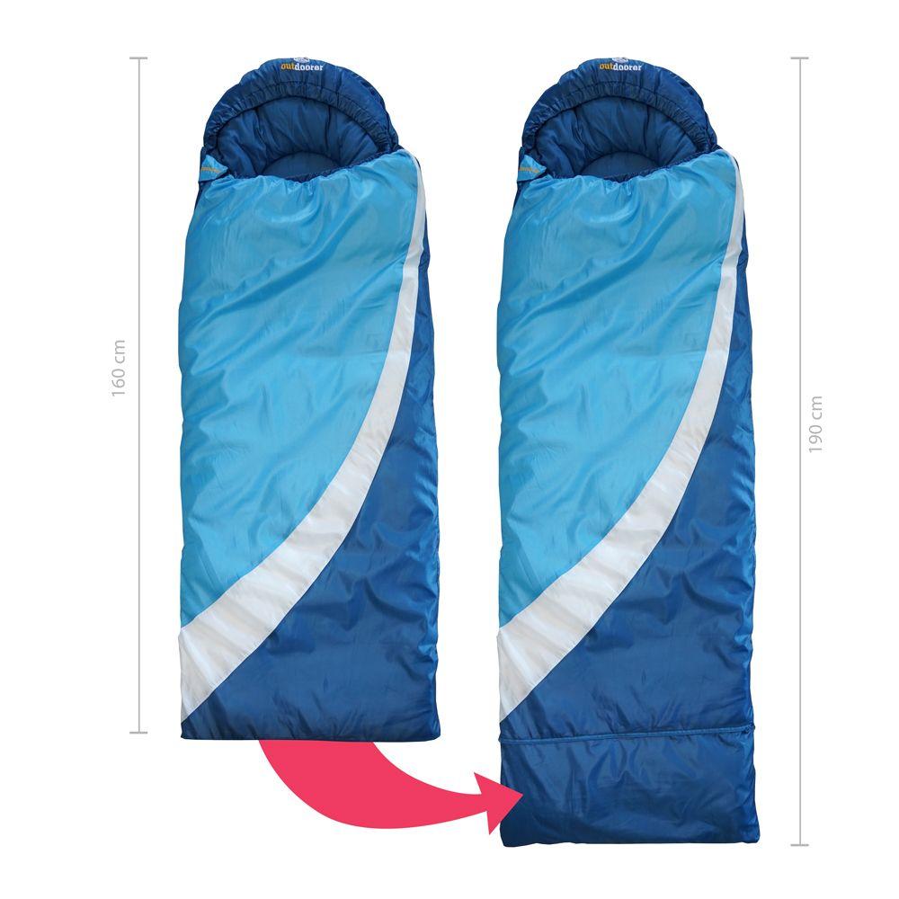 Mitwachsender Kinderschlafsack blau