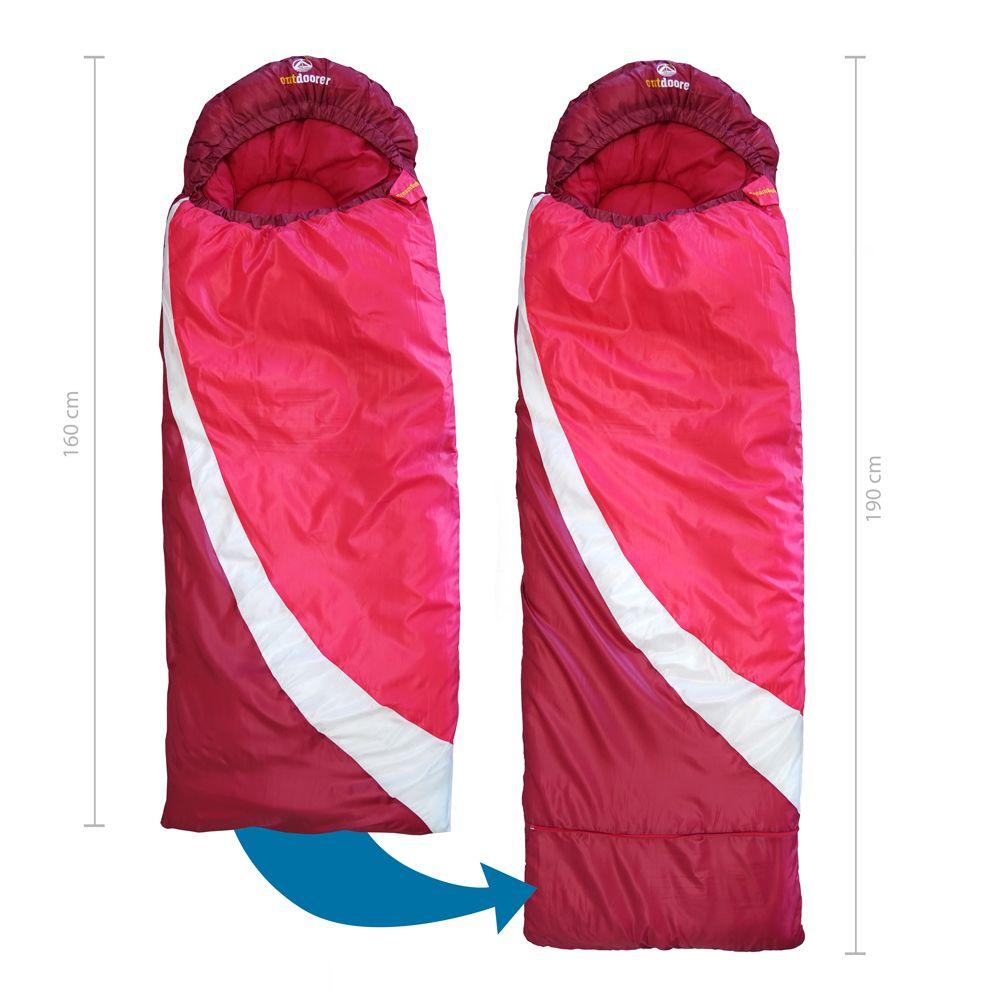Mitwachsender Kinderschlafsack pink
