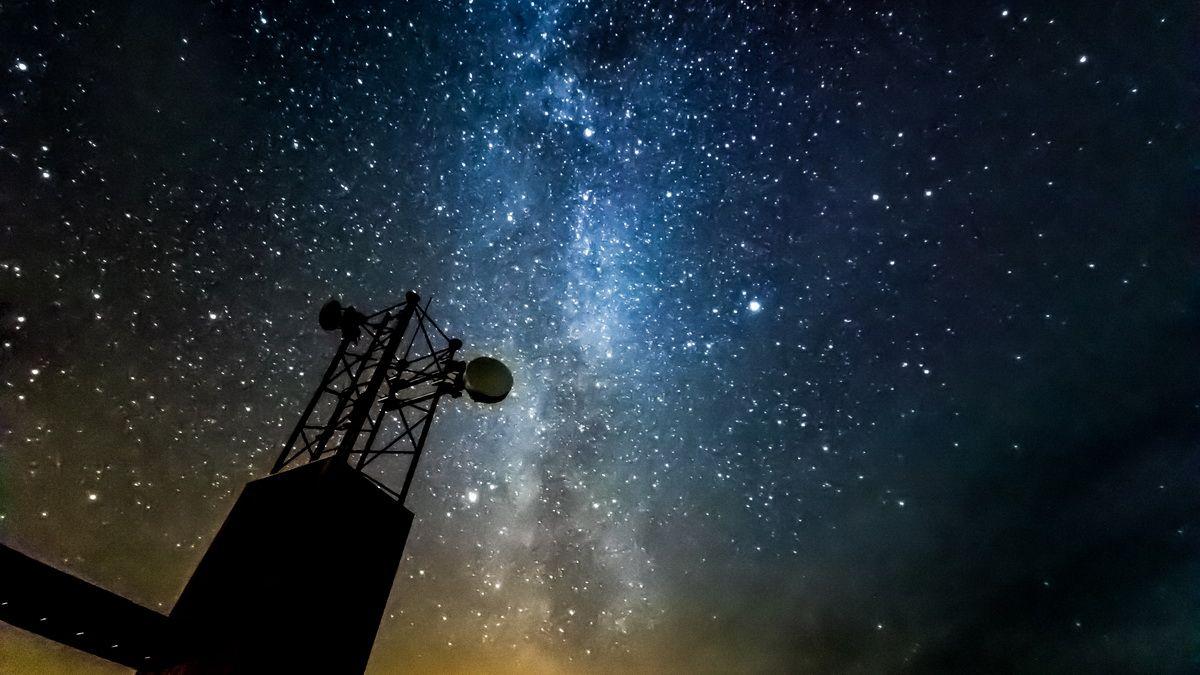 Nachthimmel Norwegens