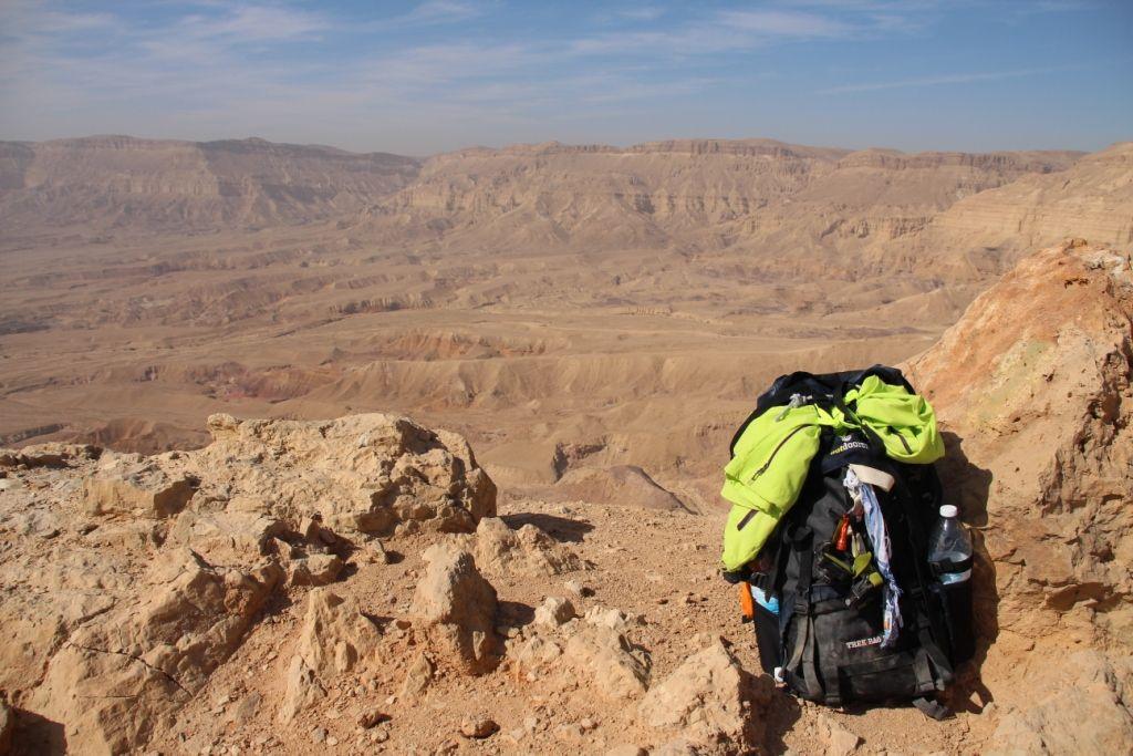 Nicht mehr neu - Der Trek Bag 70 am Israel Trail - Small Crater 2