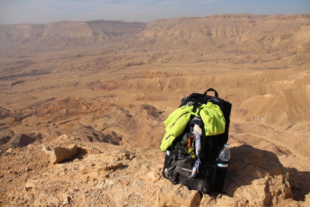 Nicht mehr neu - Der Trek Bag 70 am Israel Trail - Small Crater 3