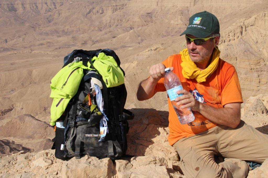 Nicht mehr neu - Der Trek Bag 70 am Israel Trail - Small Crater 4