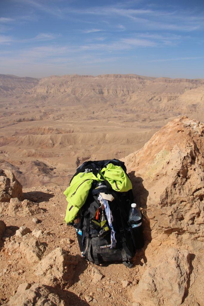 Nicht mehr neu - Der Trek Bag 70 am Israel Trail - Small Crater