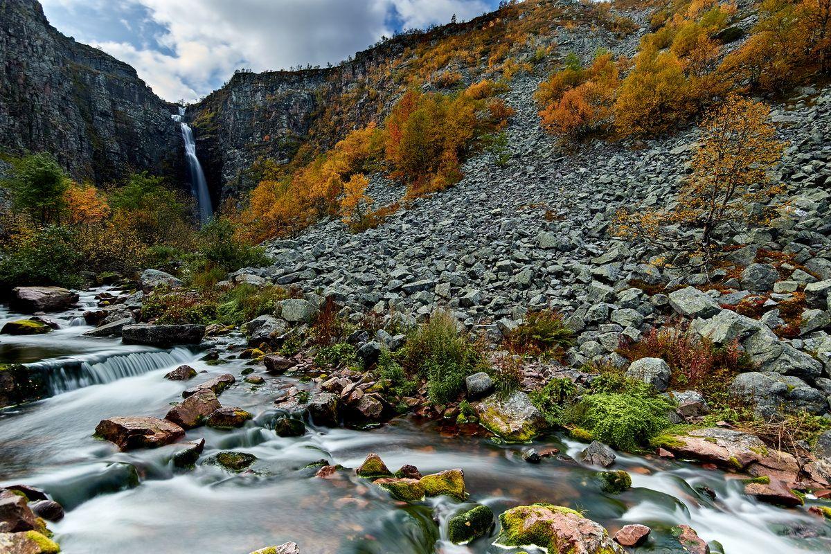 Njuspeskär Wasserfall