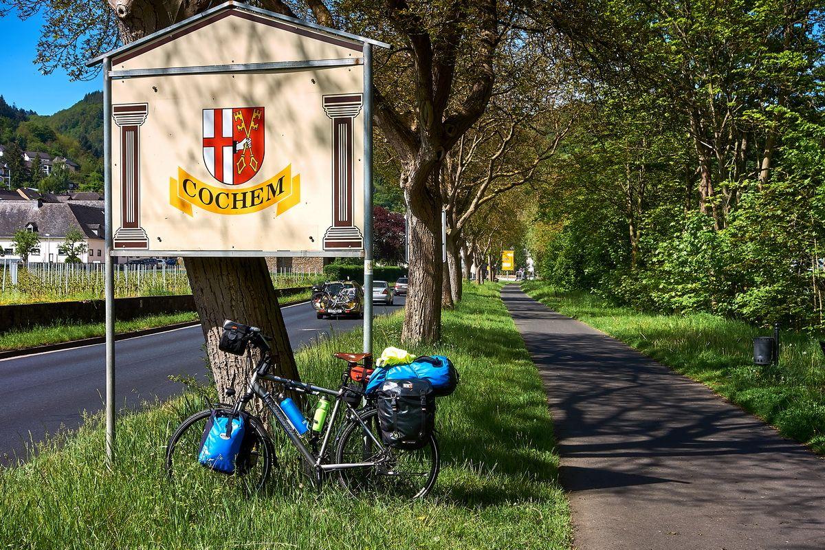 Ortseinfahrt Cochem an der Mosel