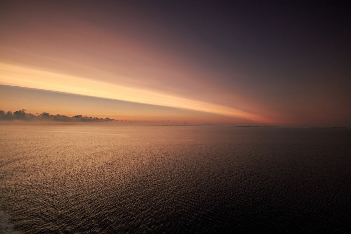 Sonnenaufgang in der Ostsee