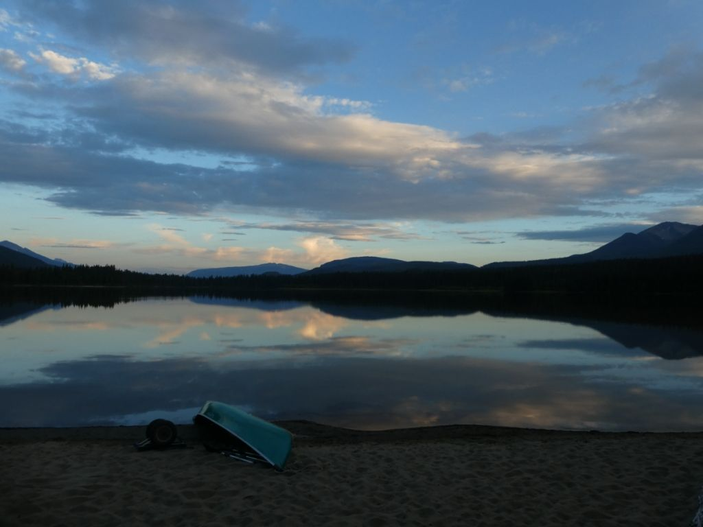 Sonnenuntergang am Spectacle Lake