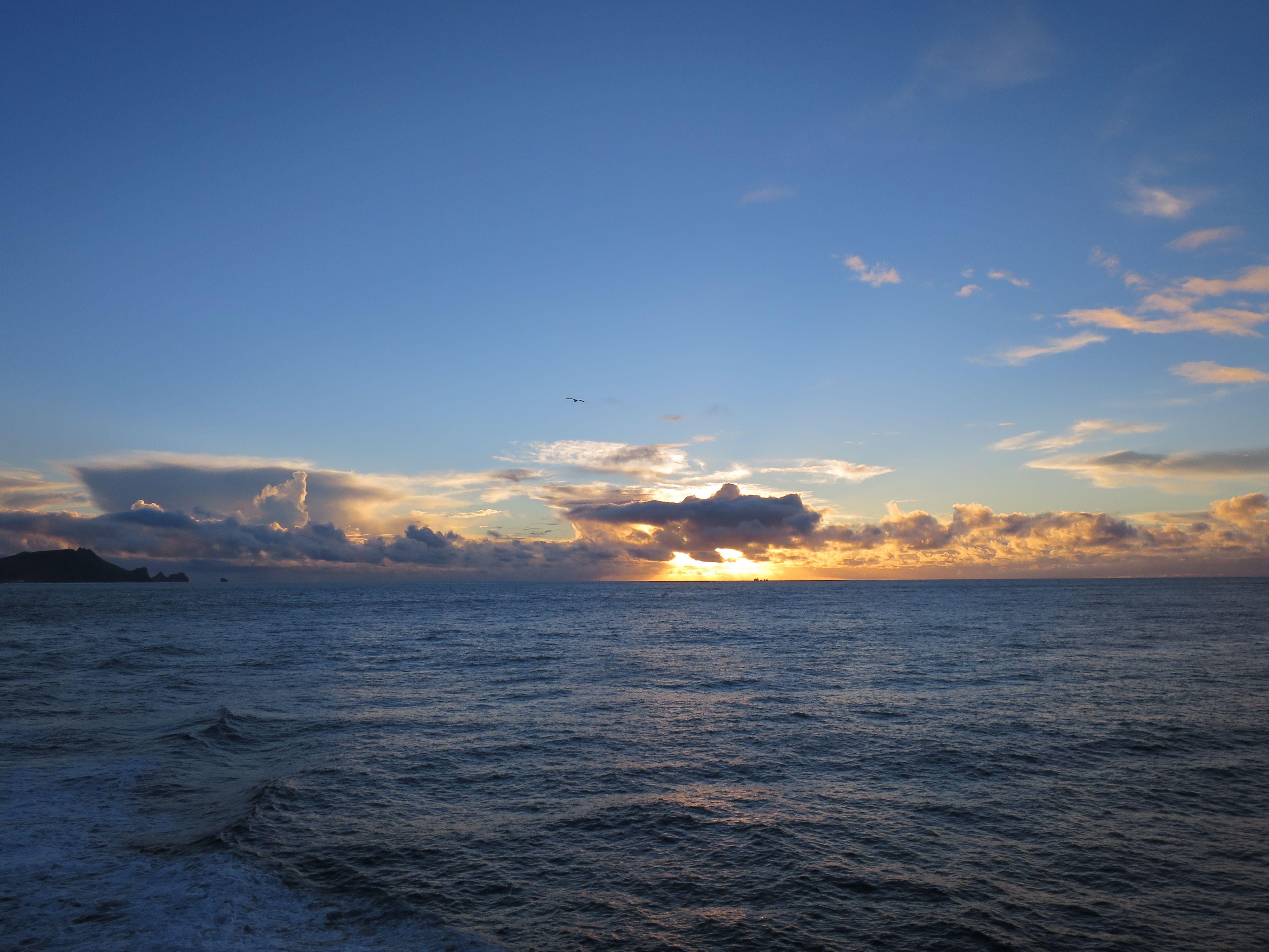 Sonnenuntergang auf den Westman Islands