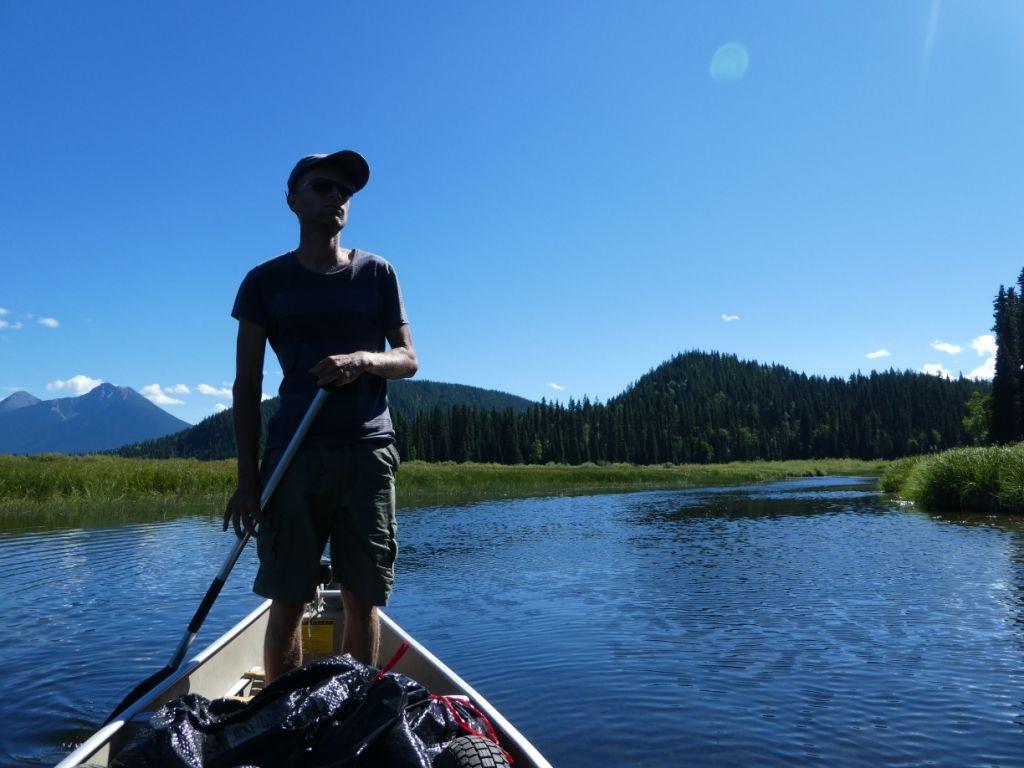 Timm beim Kanuwandern in den Wetlands