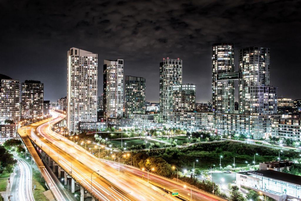 Toronto Downtown bei Nacht