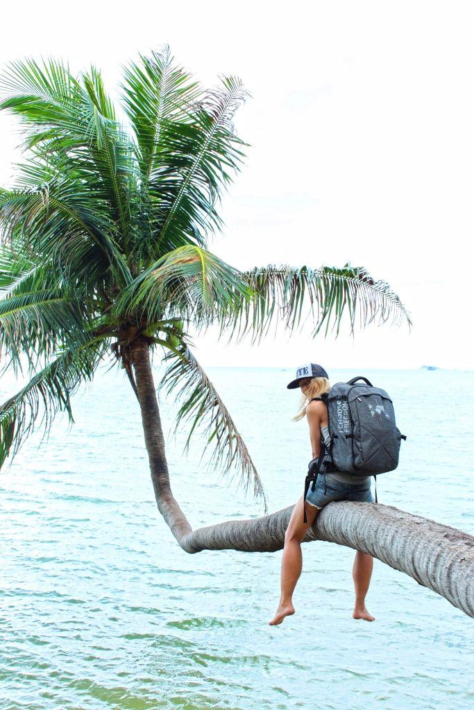 Travelicia mit dem Digitale Nomaden Rucksack