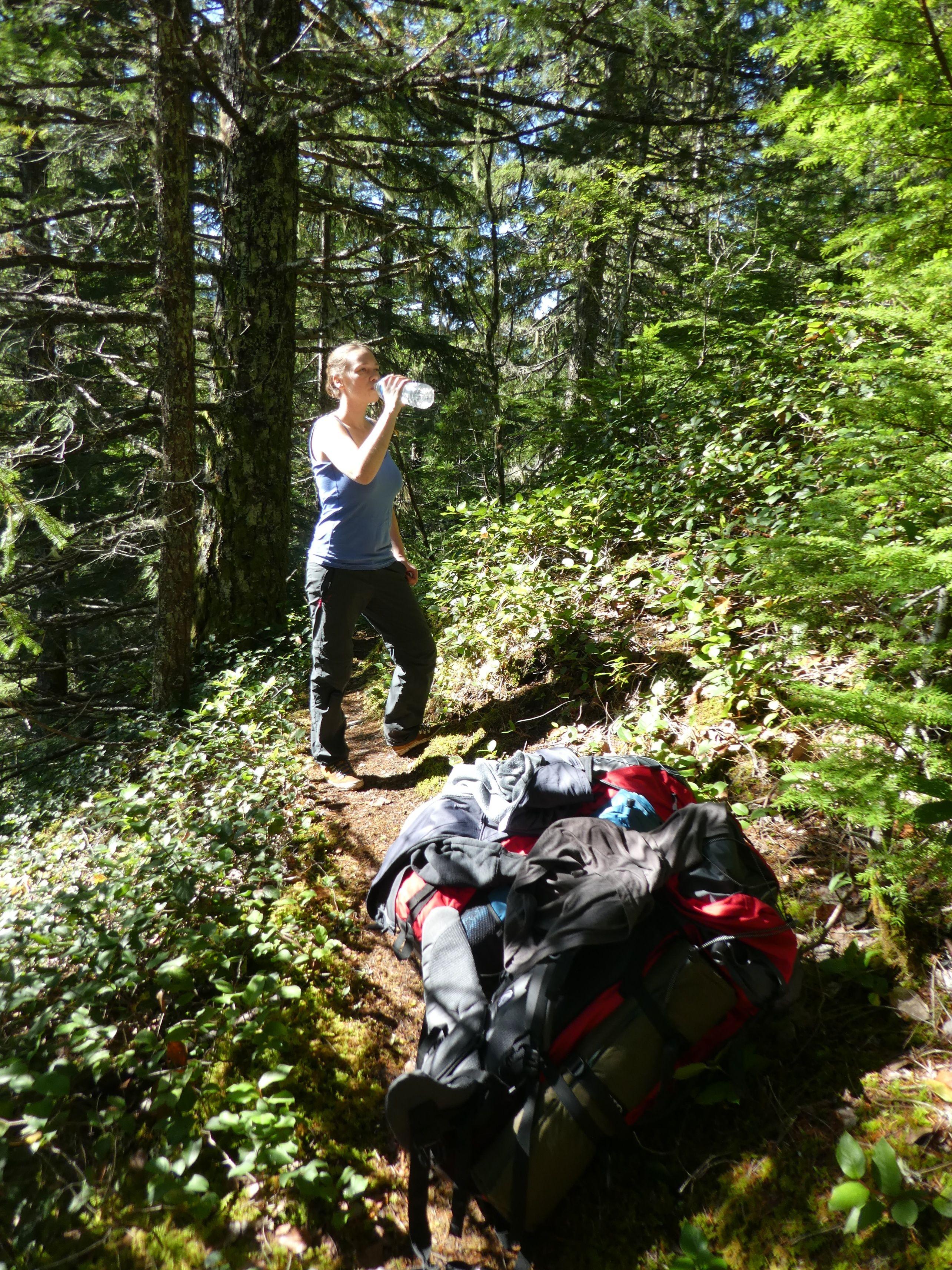 Trekking in der kanadischen Wildnis