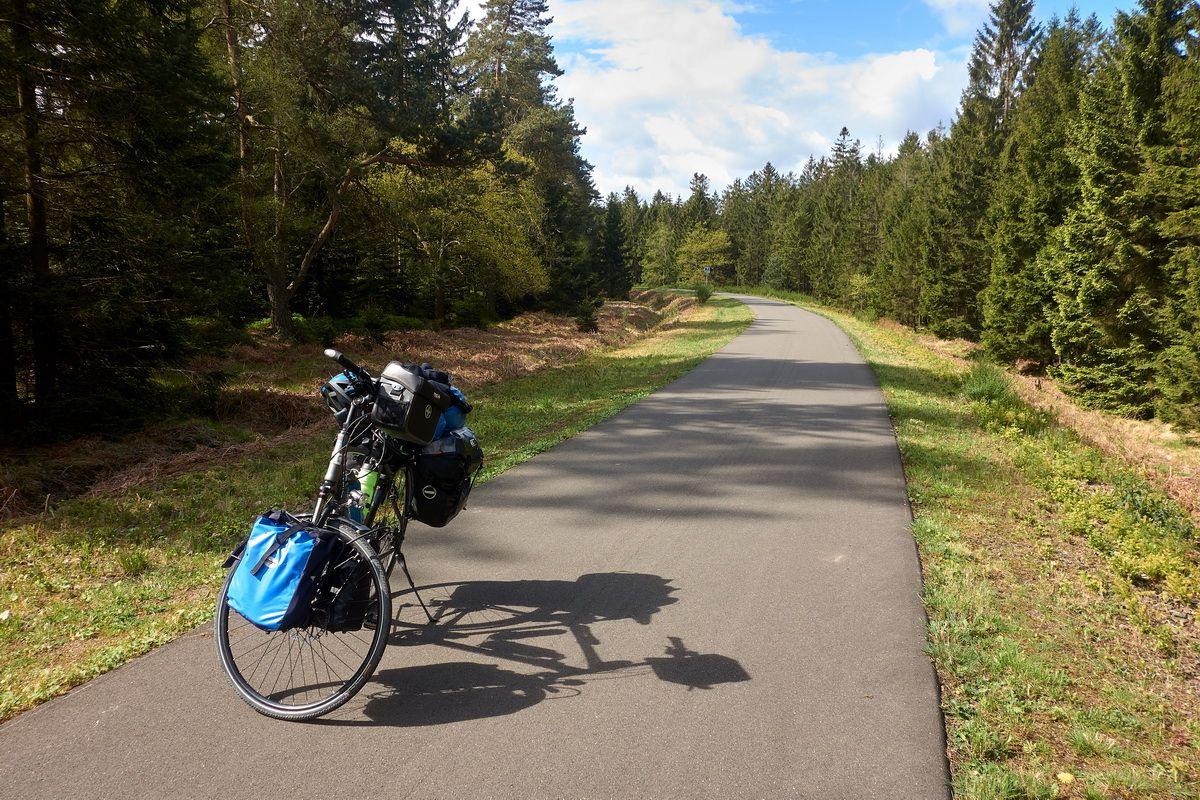 Trekkingrad auf dem Vennbahnradweg