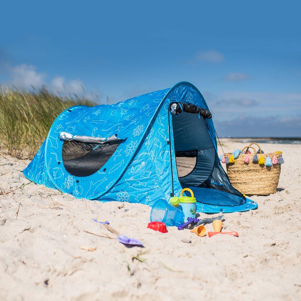 Verschließbare Strandmuschel Zack Premium Baby Kind und Meer