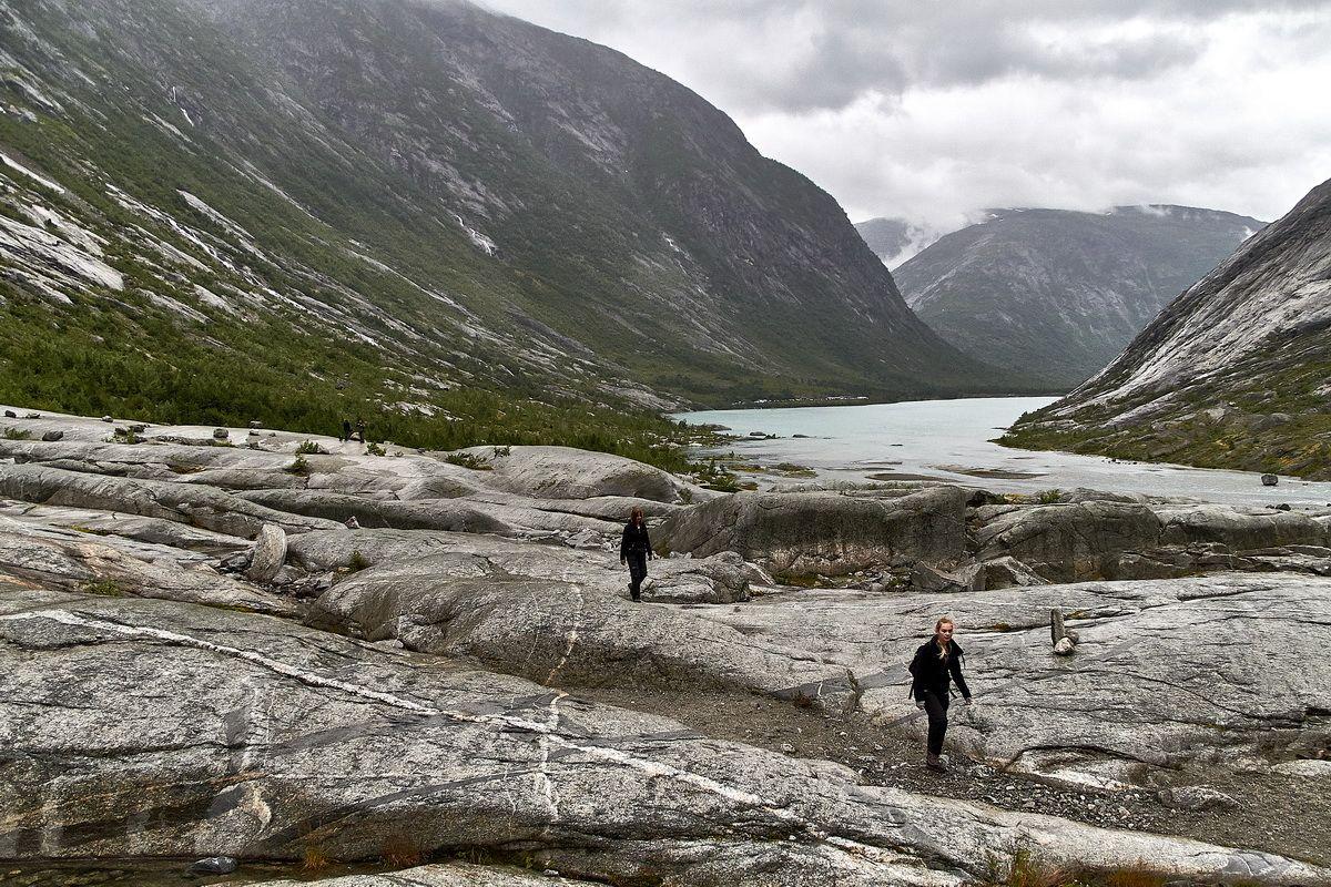 Wanderung zum Nigardsbreen mit Blick auf den Gletschersee