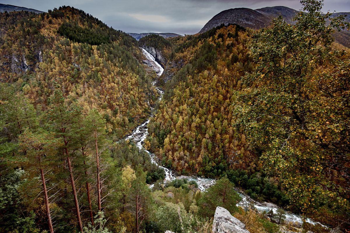 Wasserfall Linndasfossen