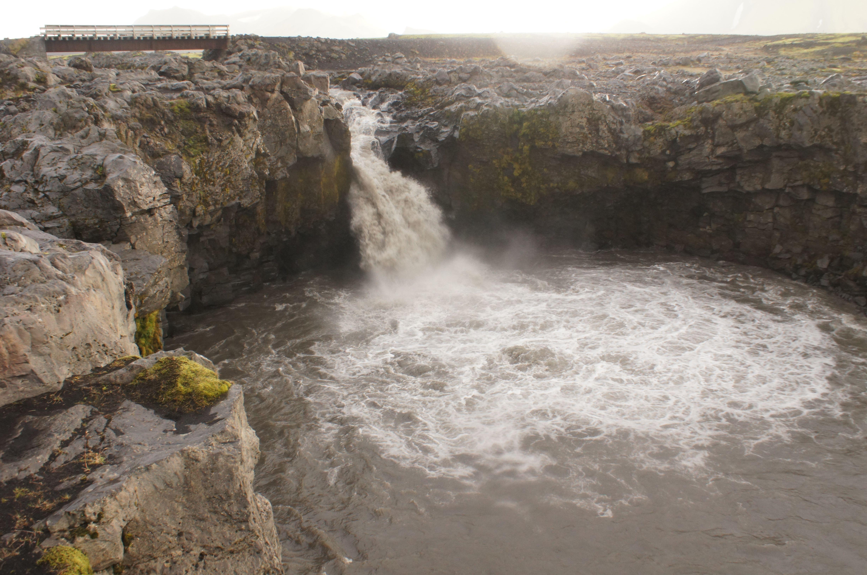 Wasserfall beim Trekking in Island